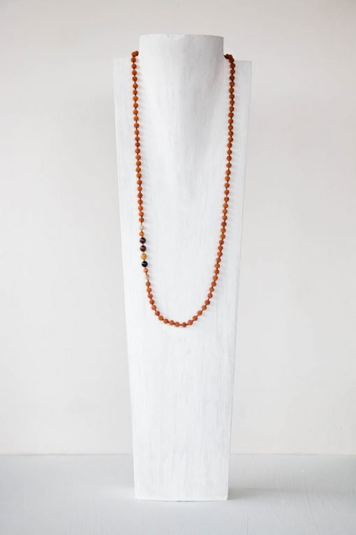 Limitless Red Black Onyx Amber Jasper Mala